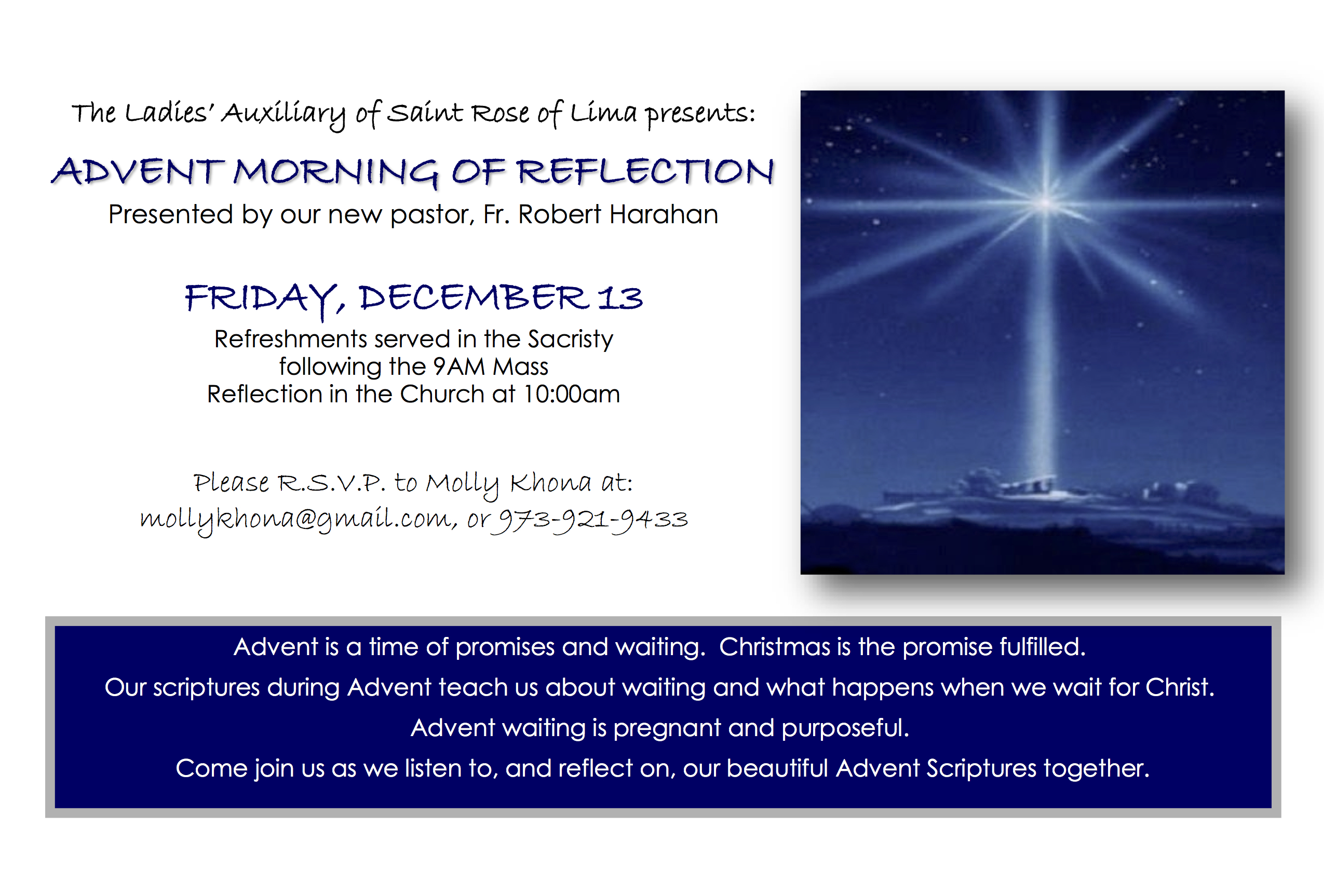 Advent Morning Reflection