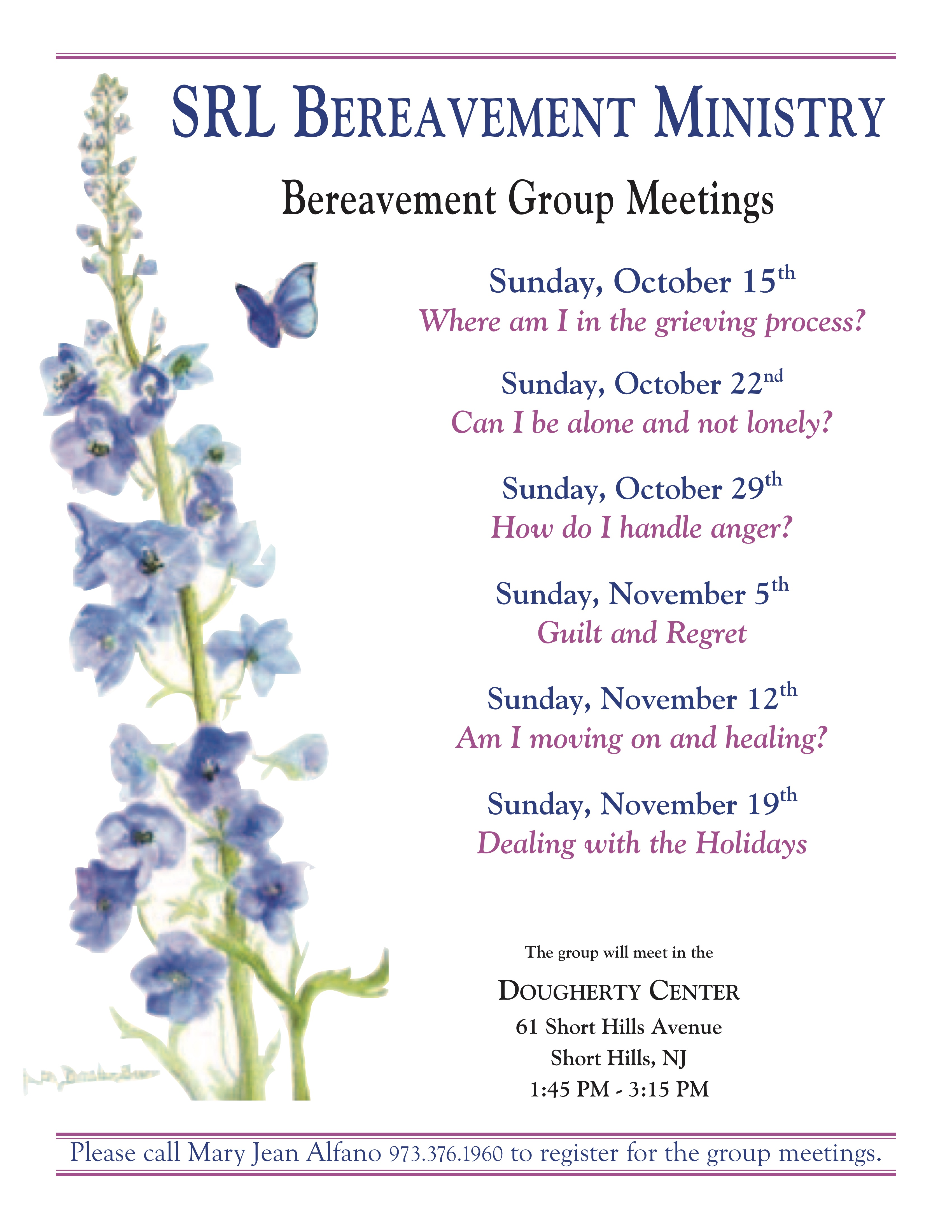 Bulletin Bereavement Ministry
